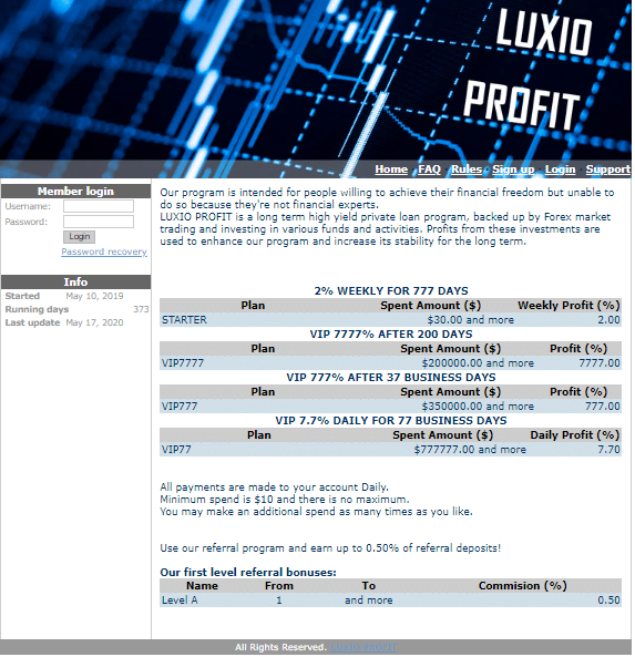 luxioprofit.com May 17, 2020