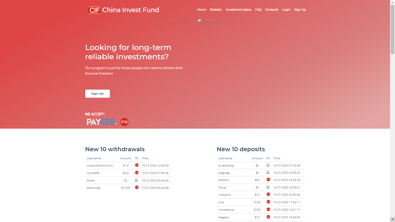 Chinainvest.fund August 26, 2020