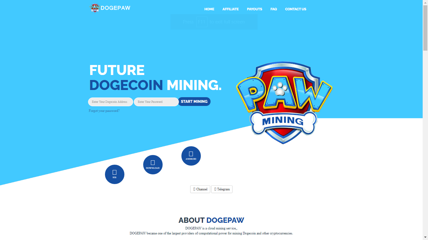 Dogepaw.com September 10, 2020
