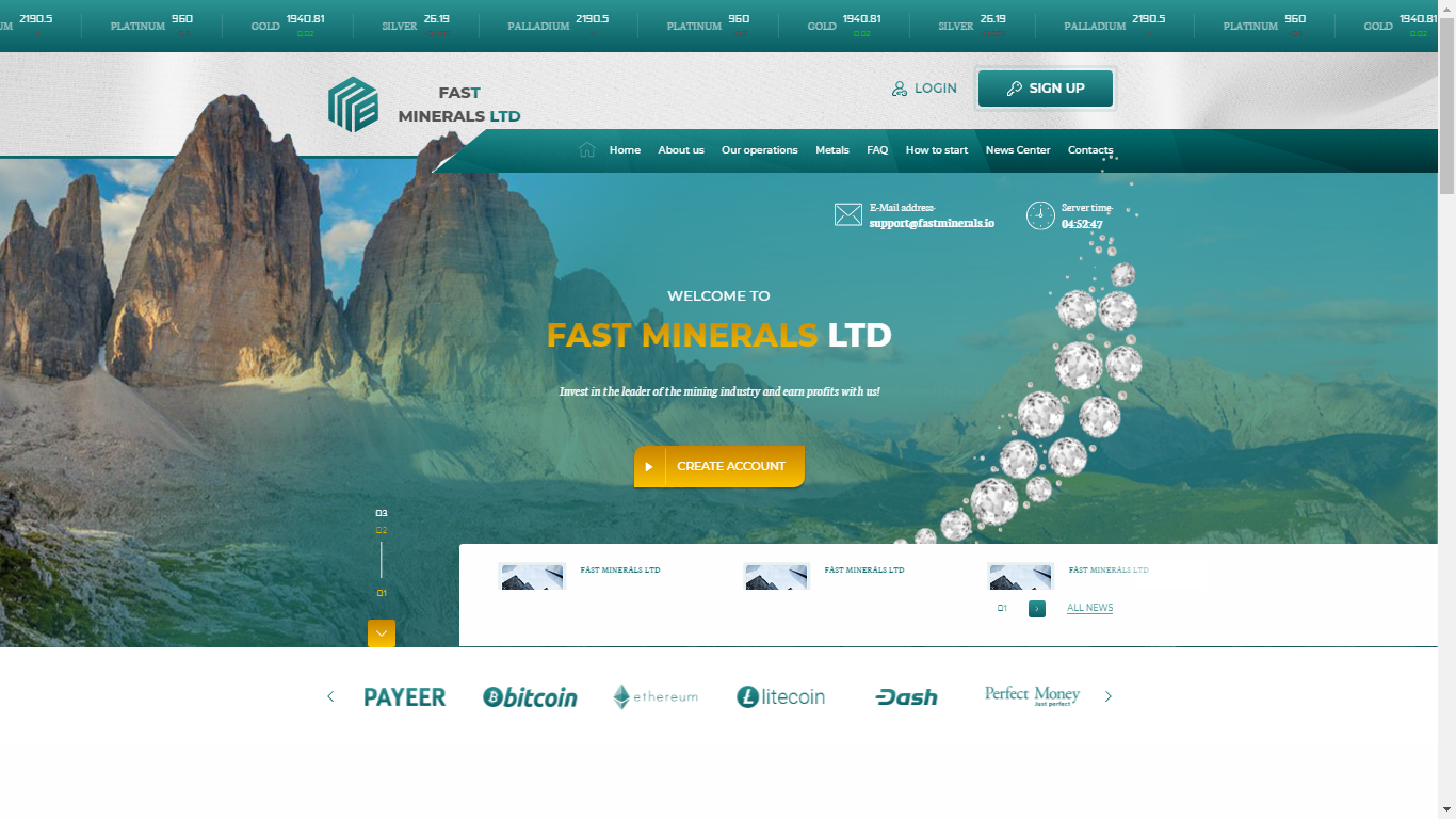 Fastminerals.io December 2, 2020