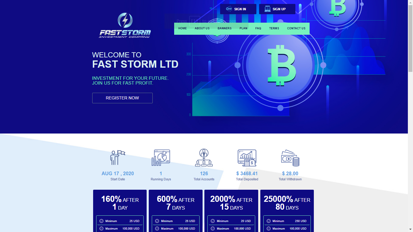 Faststorm.pro August 26, 2020