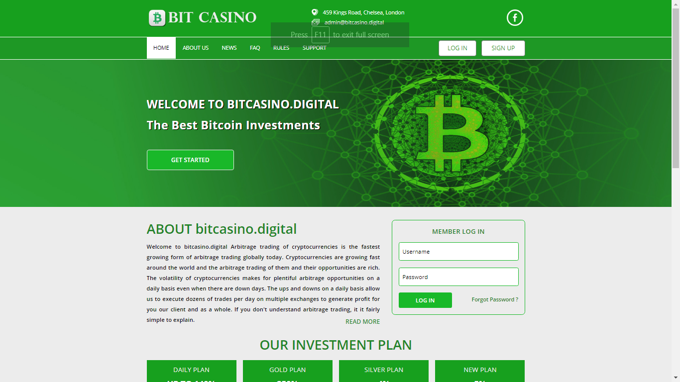 Bitcasino.digital October 5, 2020