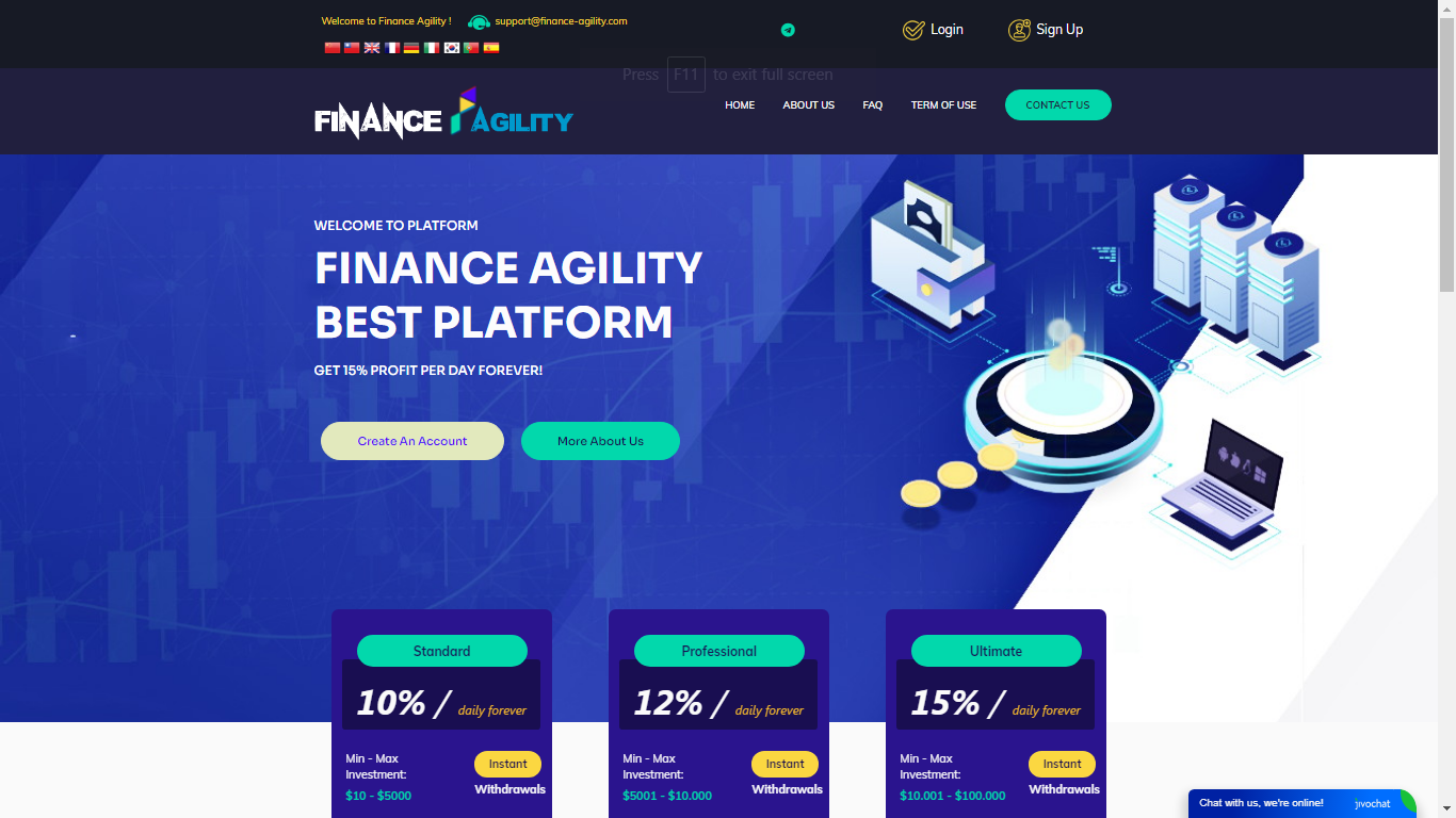 Finance-agility.com October 26, 2020