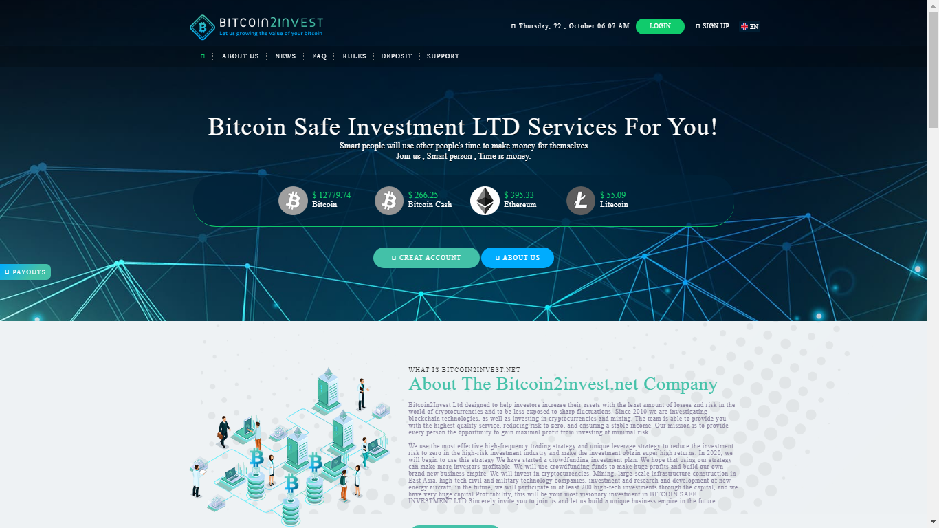 Bitcoin2invest.net October 22, 2020