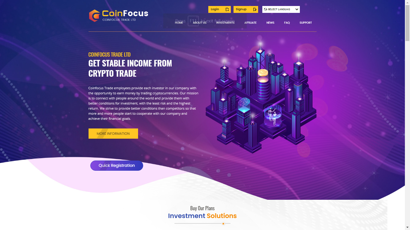 Coinfocus.trade October 31, 2020