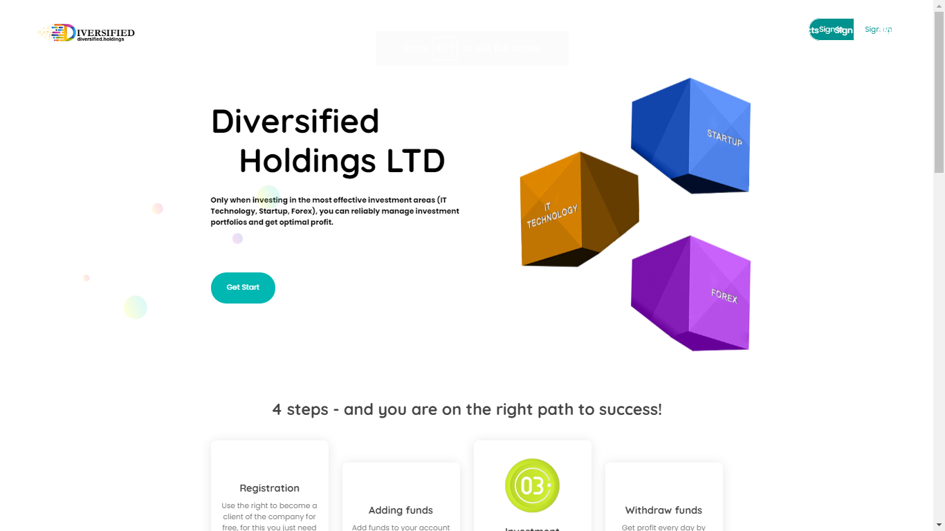Diversified.holdings December 1, 2020