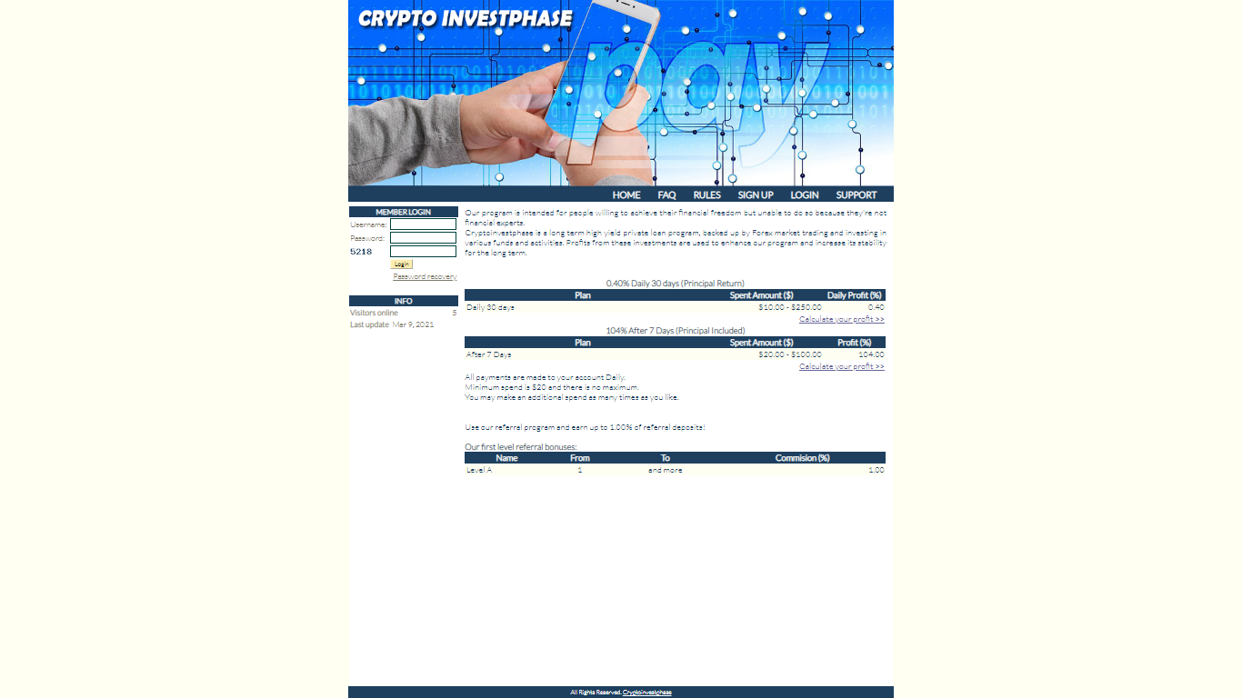 Cryptoinvestphase.com March 20, 2021
